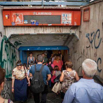 In de metro van Rome doet zelfs de noodrem het niet