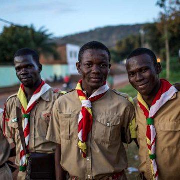 Scouts bewaren de vrede in Centraal-Afrikaanse Republiek