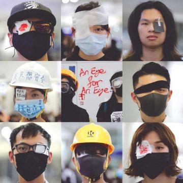 Eendrachtige protest  jonge betogers Hongkong