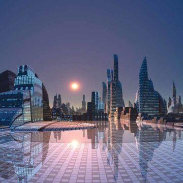 Stad van de toekomst midden in de woestijn