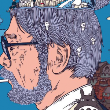Suizen over bergachtige landschappen met Hayao Miyazaki