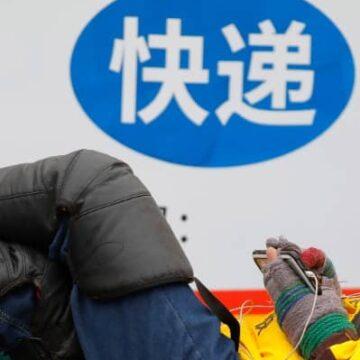 Chinese Alliantie van Ridders neemt het op voor maaltijdbezorgers