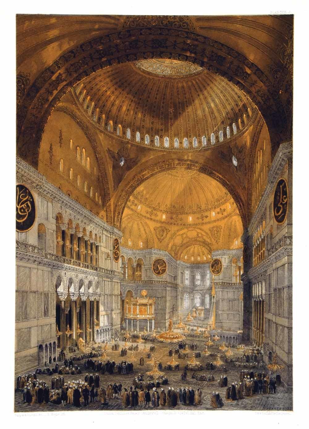 De Hagia Sophia in ca. 1849.