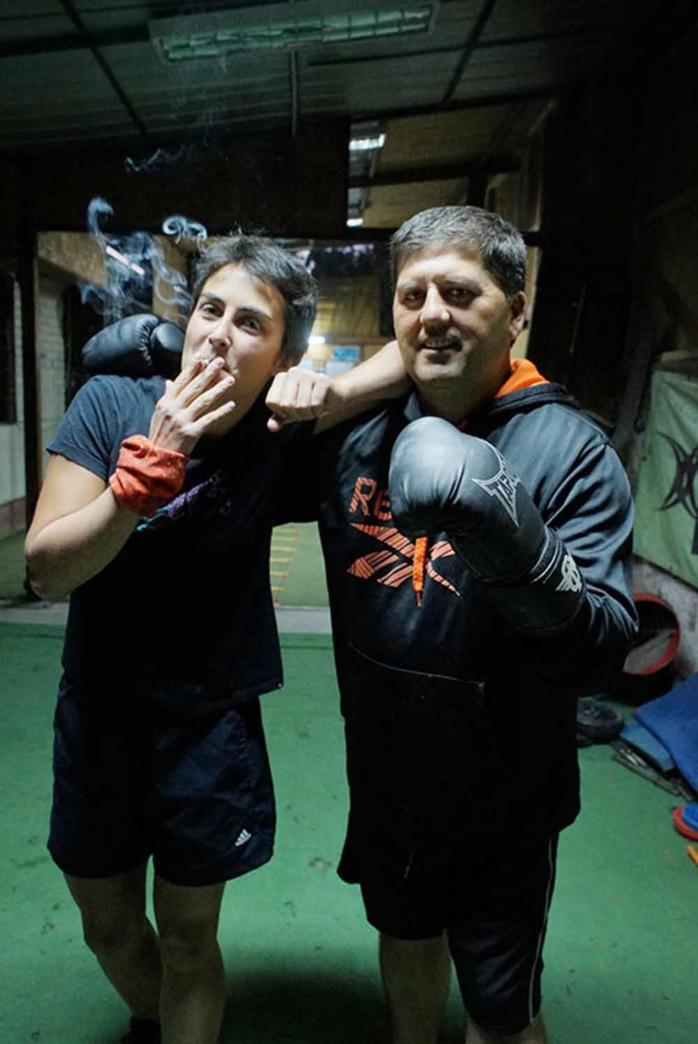 Leden van de boksclub in actie. – © Pablo Munoz