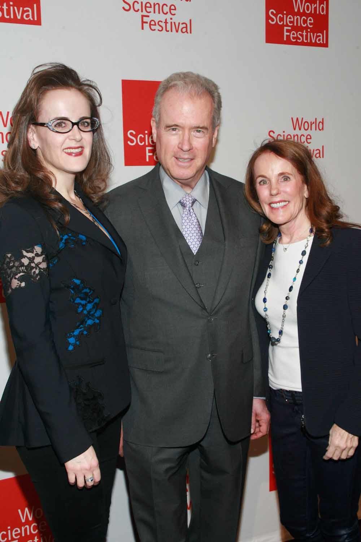Vlnr. Rebekah Mercer, Robert Mercer en Diana Mercer tijdens het World Science Festival Gala in New York in 2014. – © Getty Images
