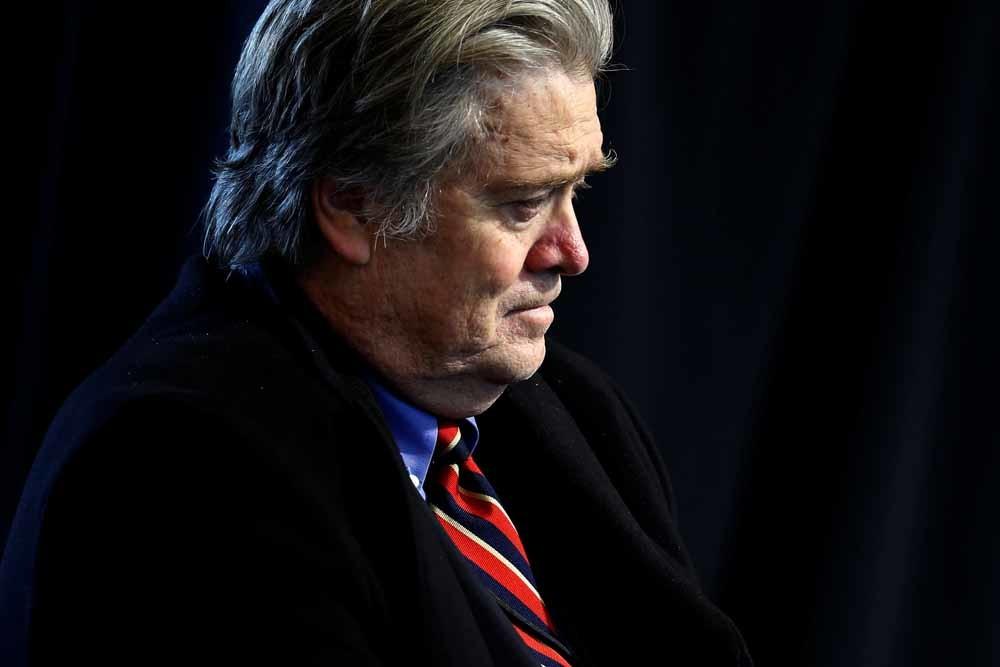 Witte Huis-adviseur Steve Bannon. – © Jonathan Ernst / Reuters