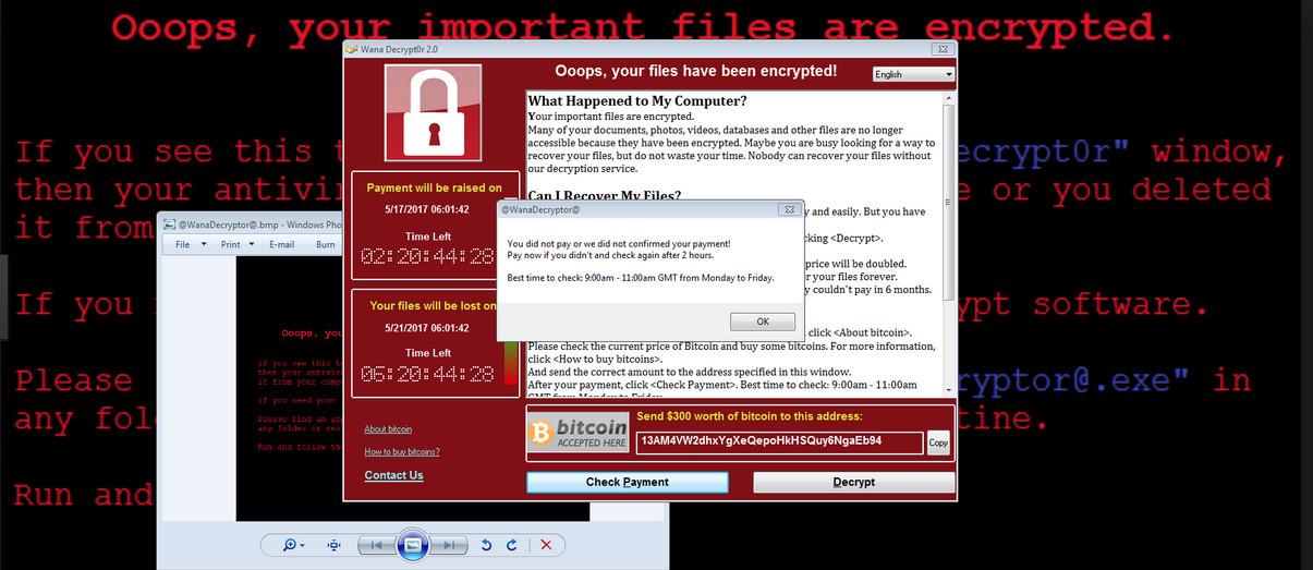 Vorige maand werd het WannaCry-ransomware verspreid over honderdduizenden computers in zo'n 150 landen. De slachtoffers moesten 300 dollar betalen om weer toegang te krijgen tot hun bestanden.  – © POLARIS