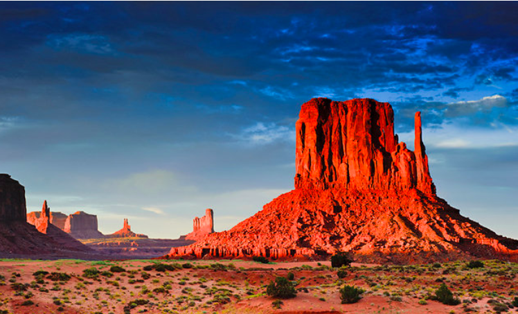 Utah: 1. Zion Natural Parc; 2. Monument Valley; 3. Bryce Canyon National Parc