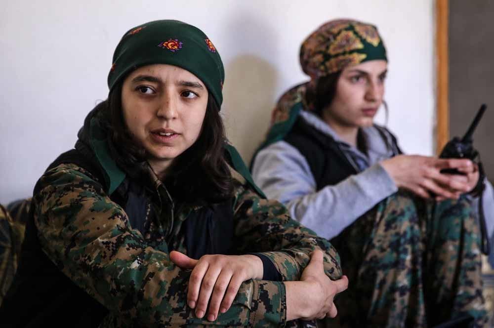 Syrisch-Koerdische meisjes in Aleppo. – © Valery Sharifulin / Getty