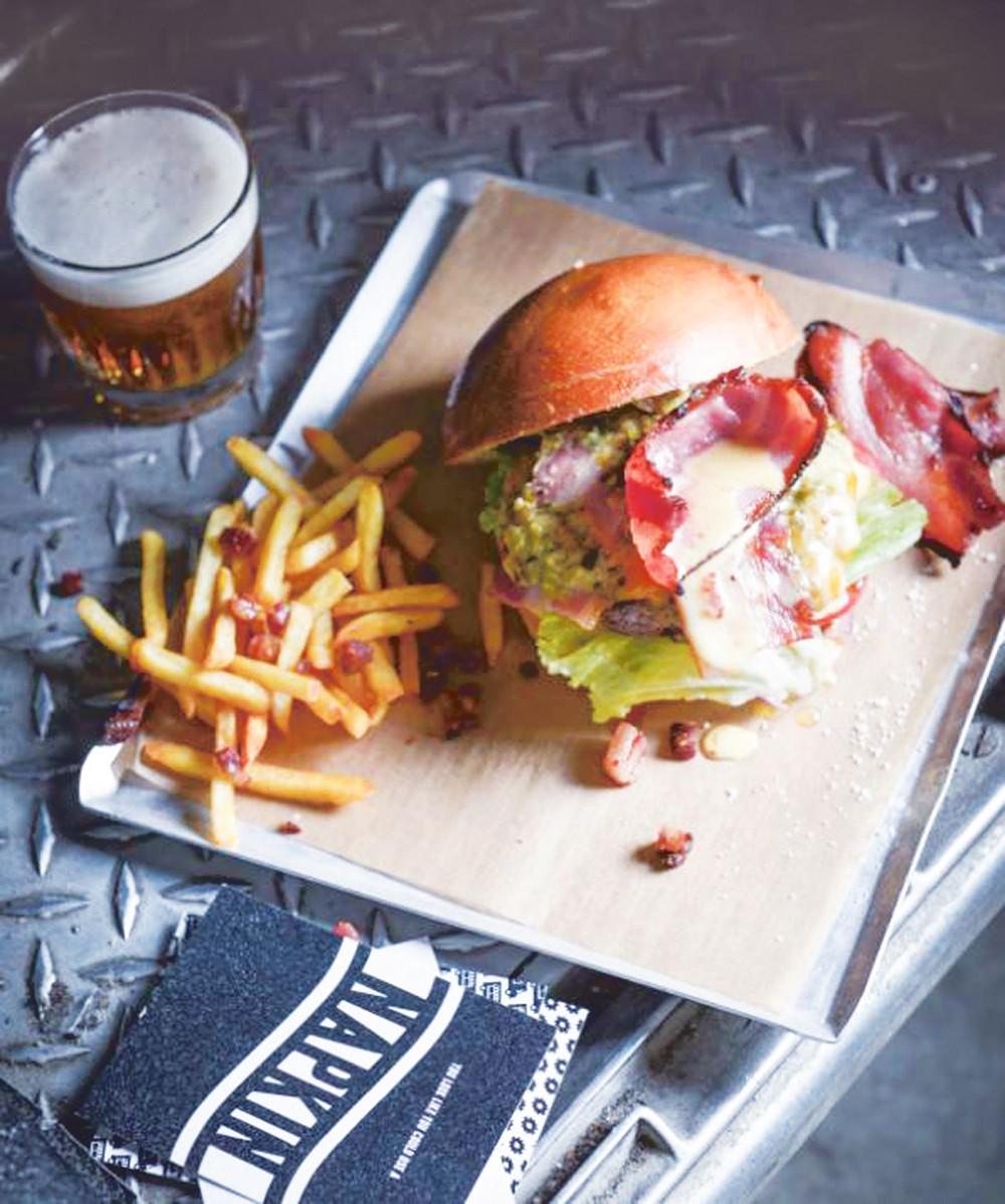 Een hamburger van Truck De Luxe.