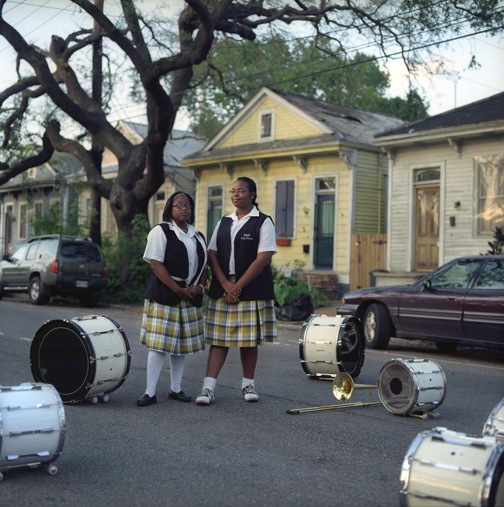 Twee leden van The Max Band, een van de vele schoolfanfares in New Orleans. © Jamie James Medina / HH
