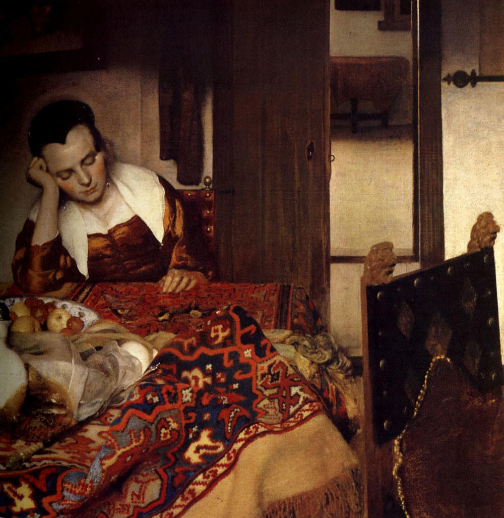 Johannes Vermeer, Slapend meisje