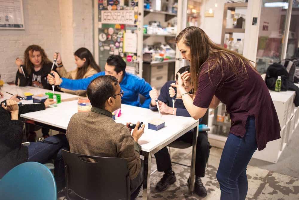 Onderwijslab Genspace in Brooklyn, New York. – © GenSpace