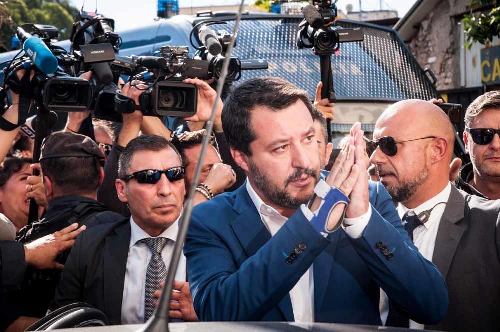 De Italiaanse vicepremier Matteo Salvini is fel gekant tegen compromissen met de Europese Commissie – © Getty Images