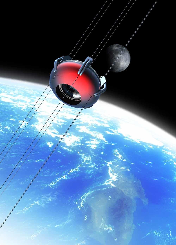 Tot nu toe komen ideeën voor een ruimtelift niet verder dan de tekentafel. – © Getty Images/Science Photo Libra