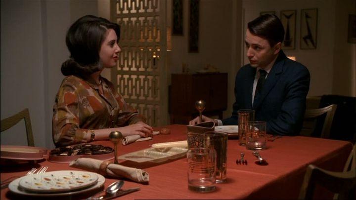 Pete Campbell (Vincent Kartheiser) en zijn vrouw Trudy (Alison Brie Schermerhorn).