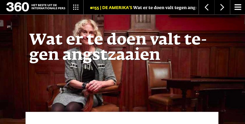 In ons vorige nummer publiceerden we een interview met Martha Nussbaum over o.a. angst en afgunst. De link staat onder aan dit artikel.