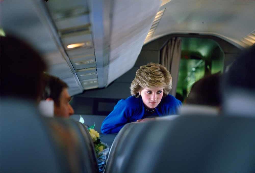 Prinses Diana aan boord van het majestueuze toestel. – © Tim Graham / Getty Images