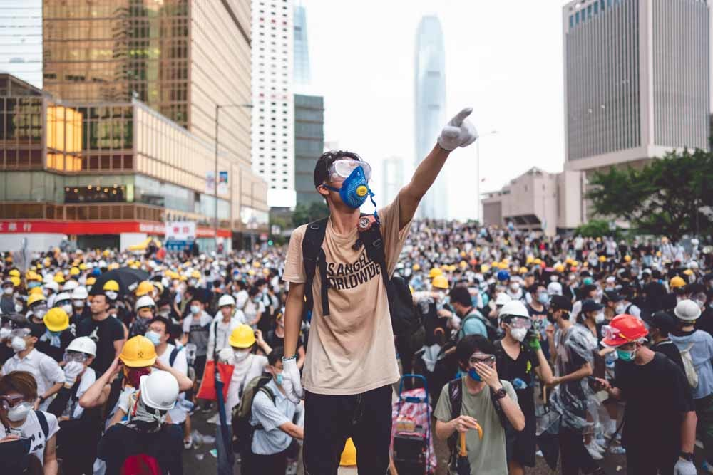 Massale protesten in Hongkong. – © Getty