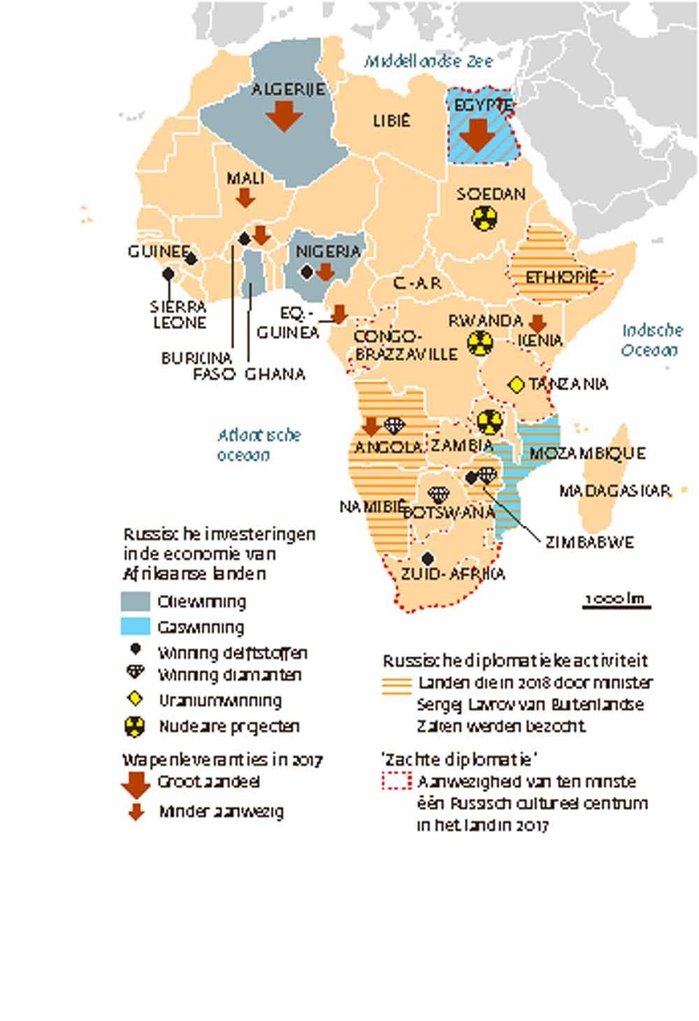 Olie, mineralen, wapens: Russische invloed in Afrika