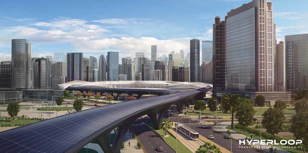 HyperloopTT hoopt haar transportnetwerk te kunnen uitbreiden naar het traject Dubai-Abu Dhabi. – © HyperloopTT