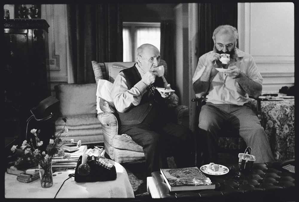 Sacks en zijn vader, Londen, 1987 – © Lowell Handler