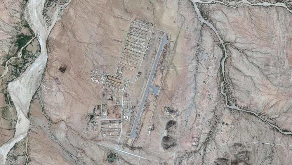Satellietbeeld van de militaire basis Sawa, inclusief de Warsai Ykiealo-school. Leger en politie organiseren geregeld razzia's om vermeende dienstplichtontduikers te arresteren. – © Google Earth