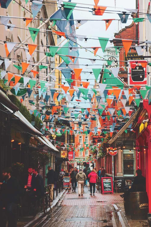Temple Bar, Dublin. Op 9 september bracht  Boris Johnson een bezoek aan Dublin voor een ontmoeting met de Ierse premier Leo Varadkar  © Anna Church / Unsplash