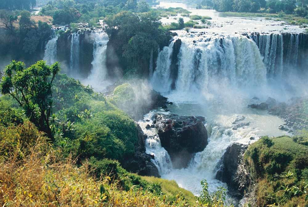 Tis Issat-watervallen in de Blauwe Nijl nabij Bahar Dar in Ethiopië © DeAgostini / Getty