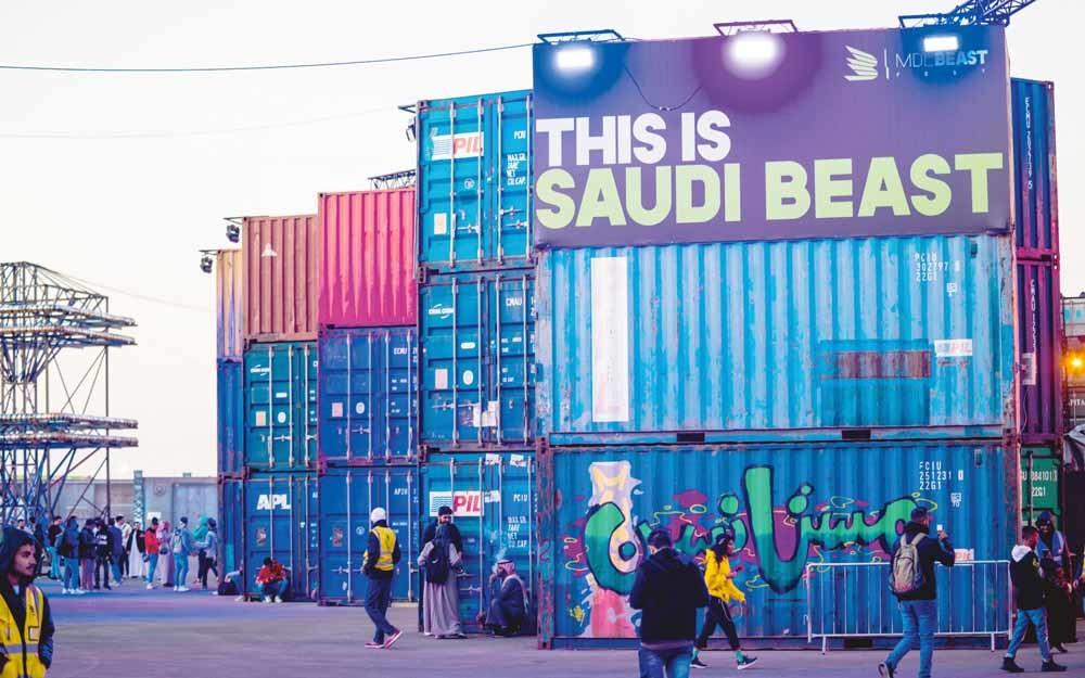 Het MDL Beast Festival is het eerste festival in Saoedie-Arabië met internationale artiesten en lokaal creatief talent. – © Matt Crossik / Getty
