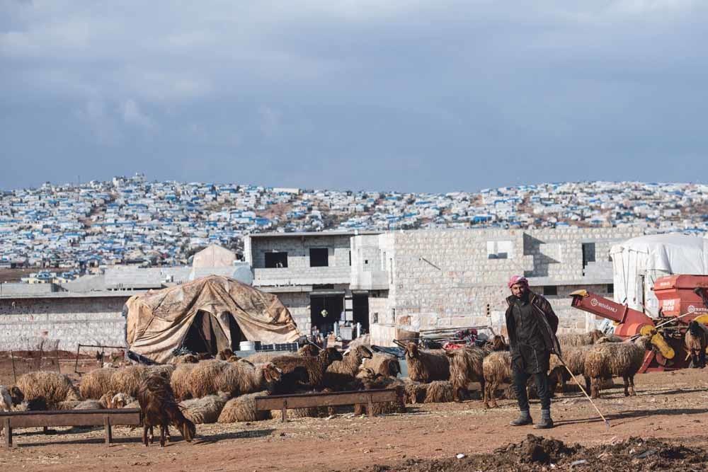 Vluchtelingenkampen aan de Syrisch-Turkse grens groeien, nu de gevechten in Idlib aanhouden. Meer dan 900.000 burgers zijn sinds 1 december ontheemd geraakt door de gevechten in en rondom Idlib.  © Burak Kara / Getty Images