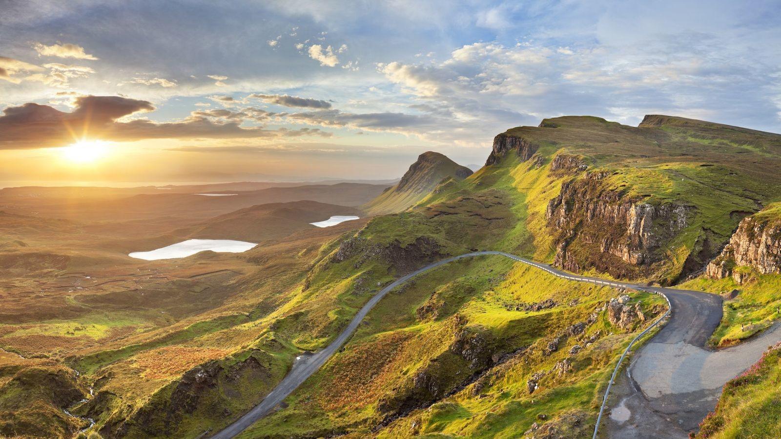 De single track roads van Schotland, waar de auteur doodsangsten uitstaat.