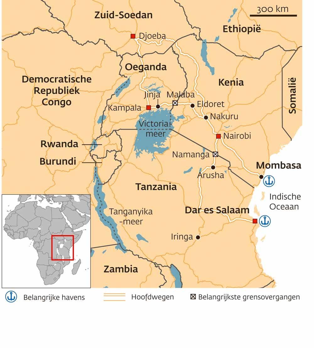 Vrachtverkeer in Oost-Afrika