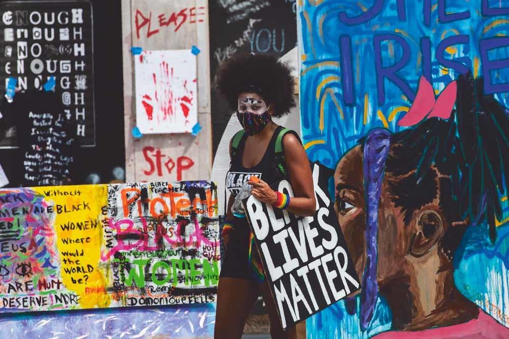 Het Black Lives Matter Plaza in de buurt van het Witte Huis in Washington, D.C. © Manuel Balce Ceneta / AP Photo