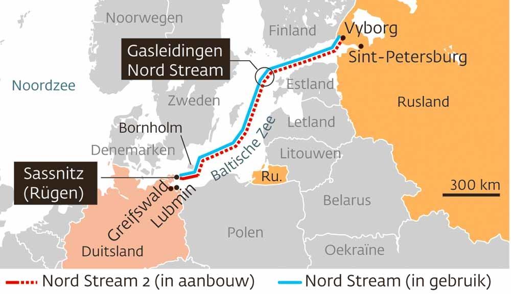 Nord Stream. Bron: Courrier International