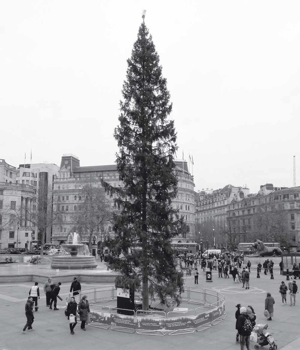 Trafalgar Square, december 2016.