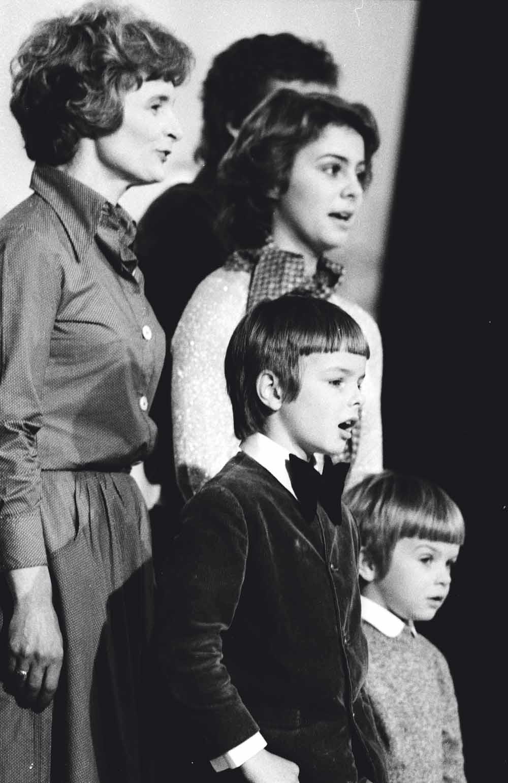In 1978 bracht de familie Albrecht een single uit: 'Wohlauf in Gottes schöne Welt'. – © Peter Timm / Ullstein Bild / Getty
