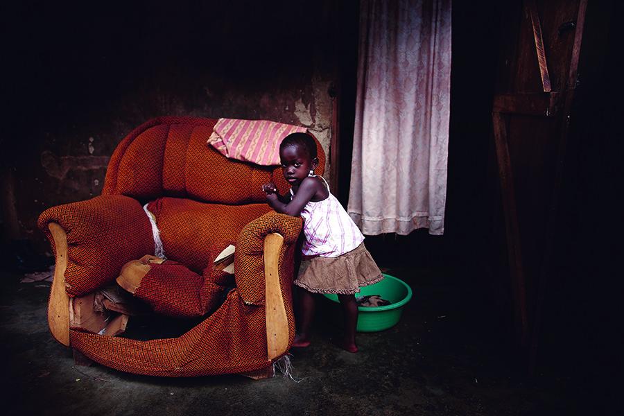De helft van de Oegandese kinderen onder de vijf jaar lijdt aan bloedarmoede. © Unsplash