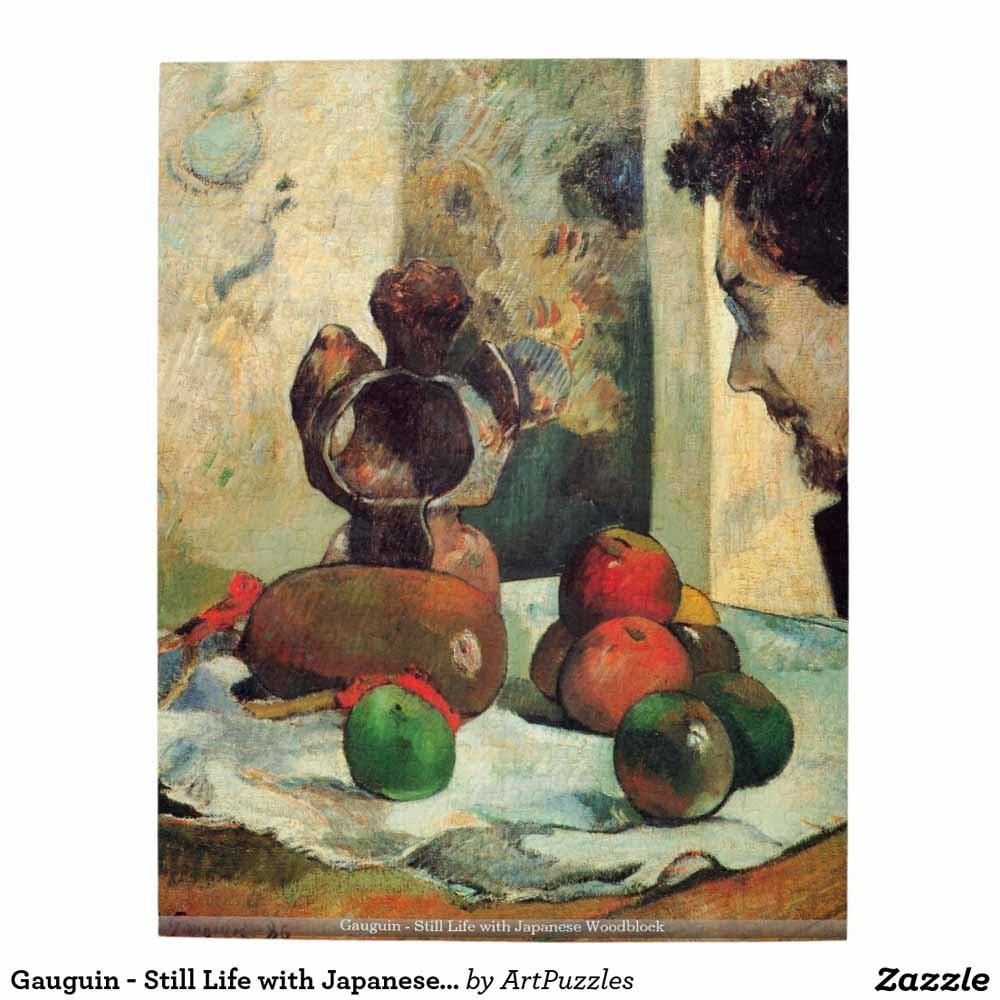 Stilleven met Japanse houtsnede door Paul Gauguin, 1889. In 1976 aangekocht door het musem.