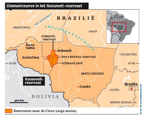 Diamantreserve in het Roosevelt-reservaat.