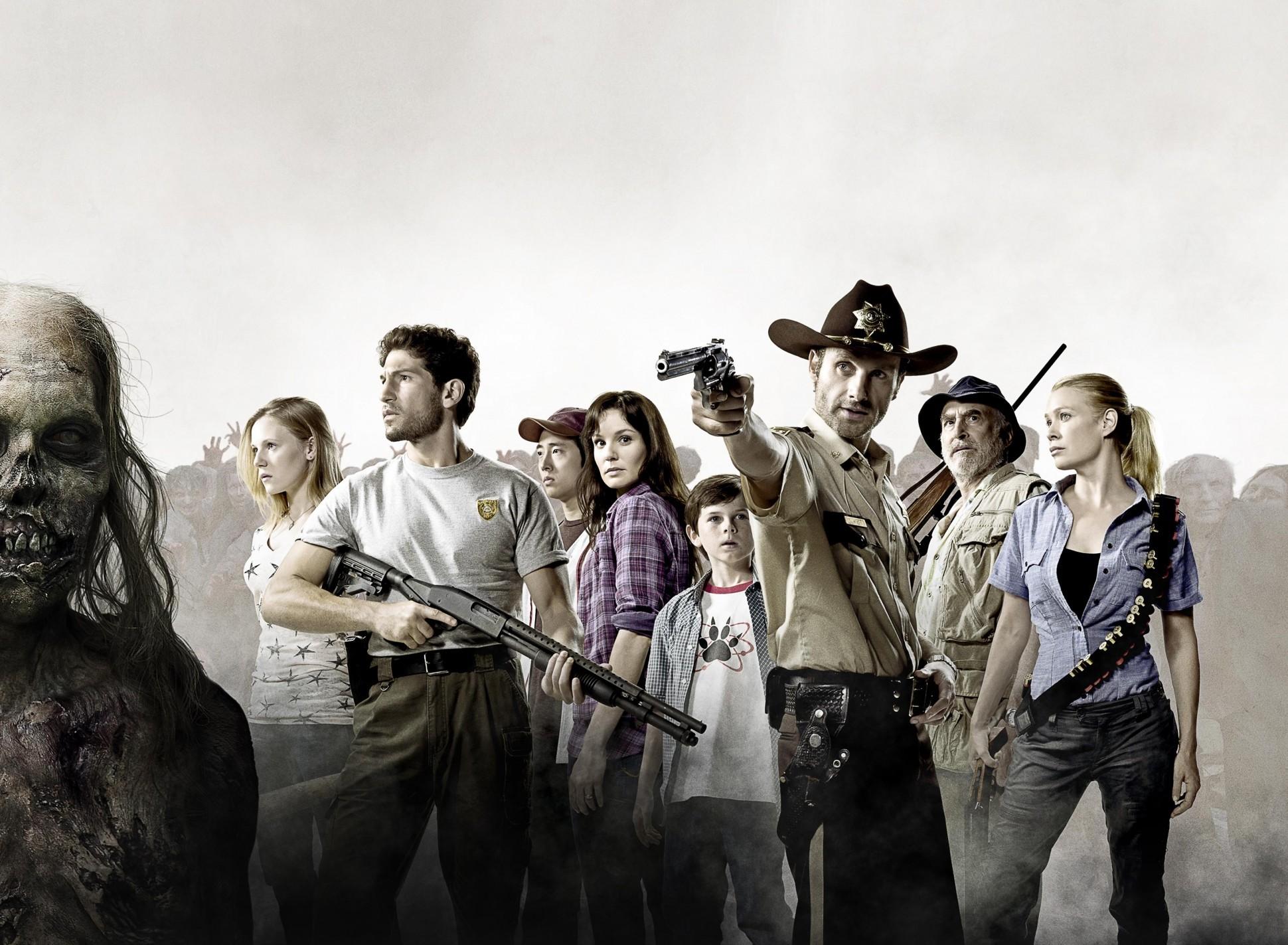 De cast van The Walking Dead: de serie van de strip.