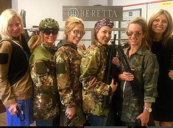 Een foto van Umberta Baretta's Instagram. Zijzelf staat rechts.