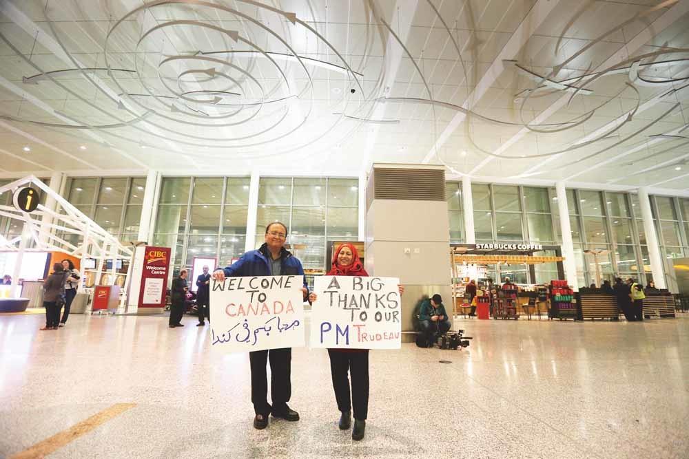 Canadese moslims verwelkomen Syriërs. – © Getty