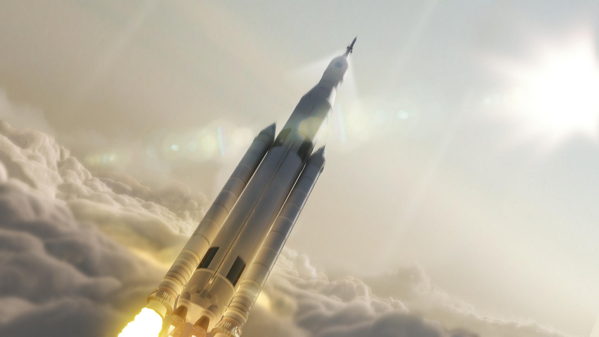 Artist impression van een ruimtevlucht. – © NASA / MSFC